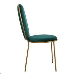 CHAISE Lot de deux chaises velours vert canard 98x51x57 V