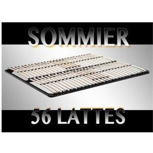 SOMMIER Sommier à lattes 180x200 Résistant acier et bois F