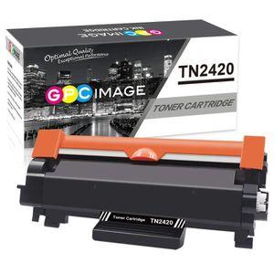 Compatible pour Brother TN-2420 TN-2410 Cartouches de Toner pour Brother HL-L2310D HL-L2350DW MFC-L2710DN MFC-L2710DW HL-L2370DN HL-L2375DW DCP-L2510D DCP-L2530DW MFC-L2730DW avec Puce LxTek TN2420
