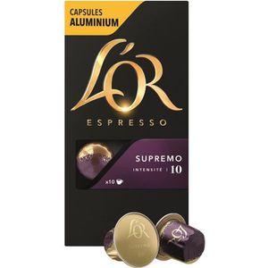 CAFÉ Capsules compatibles Nespresso x 10 L'Or Espresso