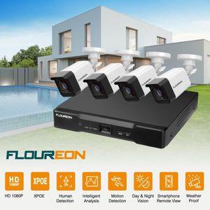 CAMÉRA DE SURVEILLANCE Kit de Caméra de Surveillance FLOUREON 1*8CH 1080P