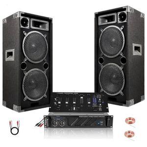 PACK SONO PACK SONO DJ 2480W avec 2 ENCEINTES 1000W + AMPLI