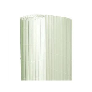 CLÔTURE - GRILLAGE Canisse PVC double face Blanc 6 m - 2 rouleaux de