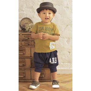 18 mois - 6 ans Tout-petits garçons jaune à rayures bleu foncé 100/% coton top