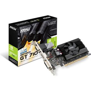 CARTE GRAPHIQUE EXTERNE MSI Carte graphique Geforce GT710 - GDDR3 - 1Go