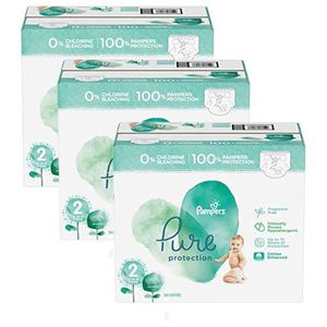 COUCHE 216 Couches Pampers Pure Protection taille 2