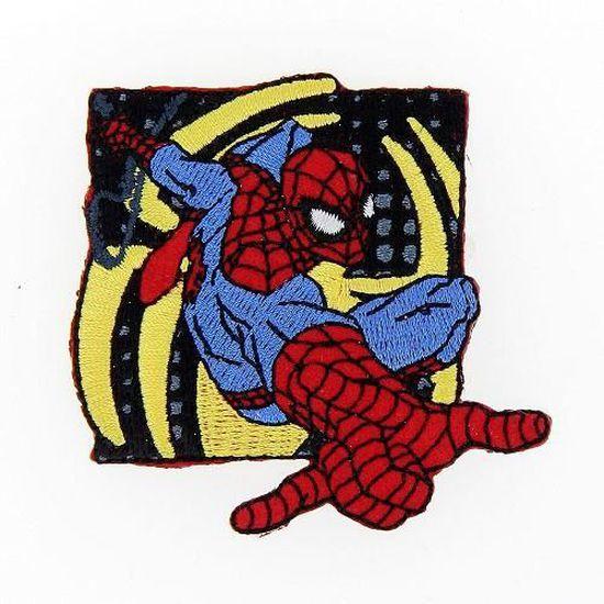 ÉCUSSON PATCH BRODÉ THERMOCOLLANT SPIDERMAN N°3-7 x 10 cm