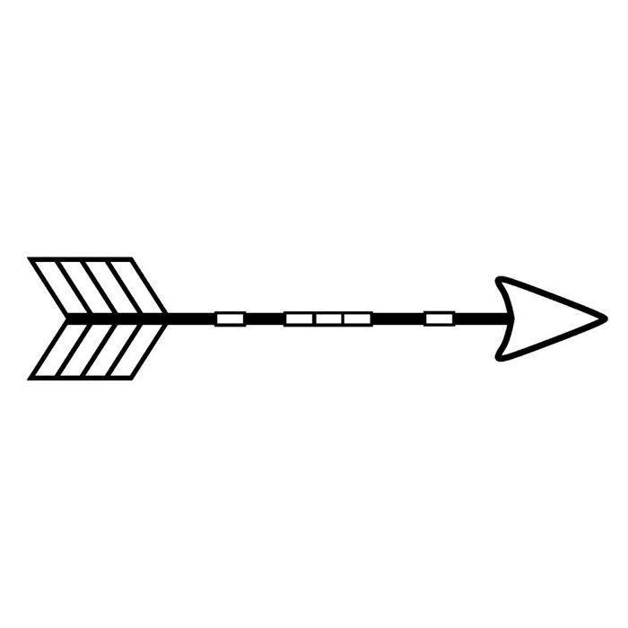 Artemio - Tampon en bois - flèche indienne