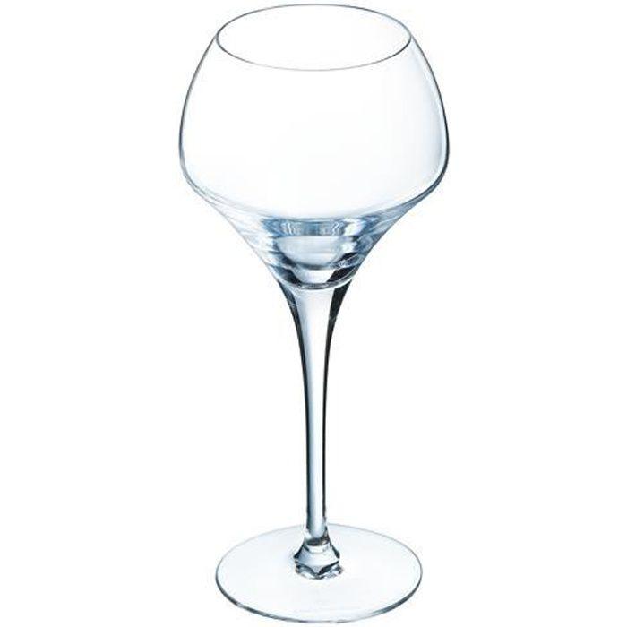 6 verres à vin rouge et blanc 37cl Open Up - Chef&Sommelier - Cristallin design original 30% plus résistant