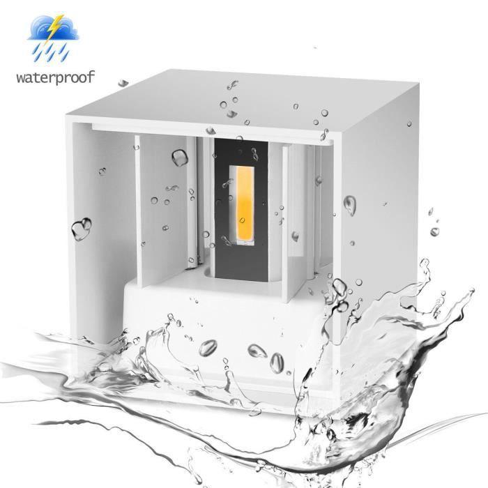 7W Moderne LED Lampe Appliques Murale de corridor Up Down Eclairage Luminaire chaud (White Case)