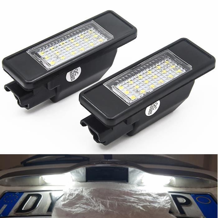 Lumière de plaque d'immatriculation de voiture LED pour CITROEN C2 3D / C3 5D / C4 3D / C4 5D / C5 4D / C5 5D / C6 4D / C8 4D DS3 3D
