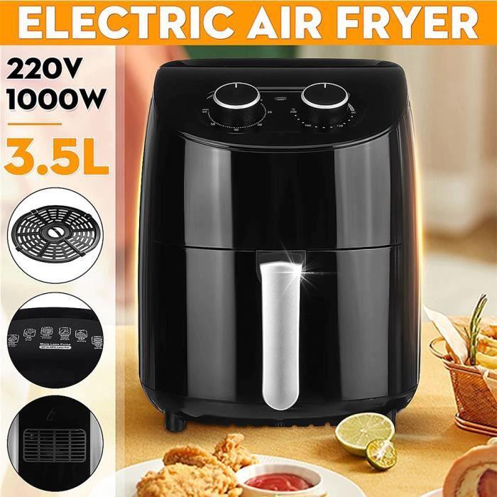 PourV Air Friteuse Électrique Sans Huile 3.5L 1000W Multifonction Outils de Cuisine Intelligente pour Saine Nourriture