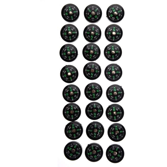 Baalaa Lot de 24 petites boussoles de 20 mm pour kit de survieA235