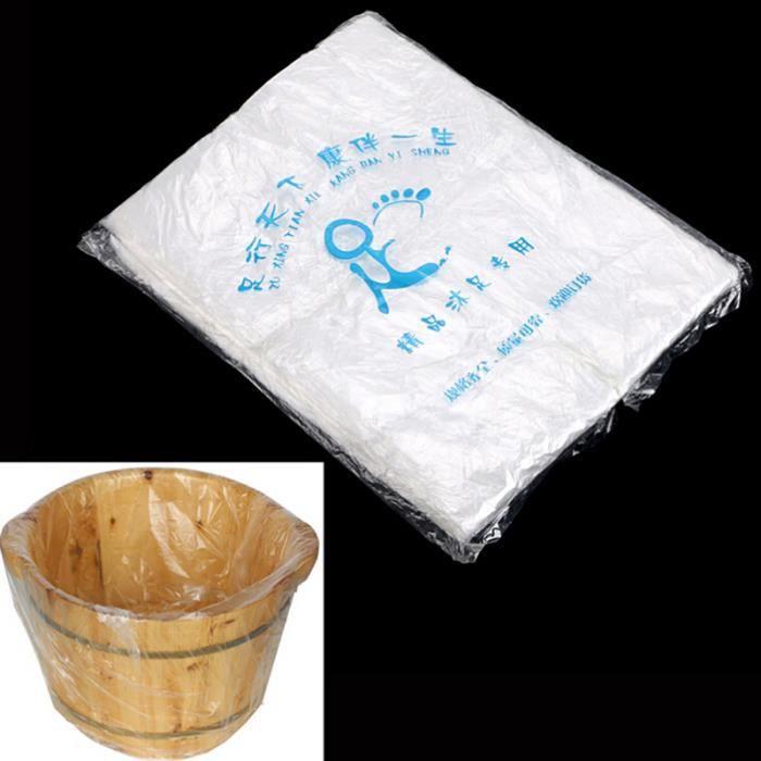 LB5936 Sacs de bassin de bain de revêtements de baignoire de pied de 90 pièces pour des accessoires de soins de la peau de station t