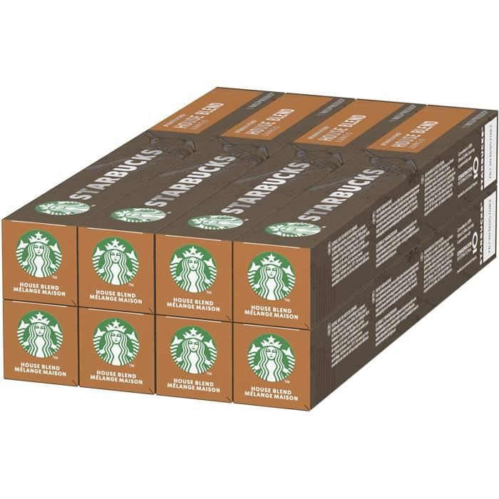 Starbucks House Blend By Nespresso 8 x 10 capsules (80 capsules)