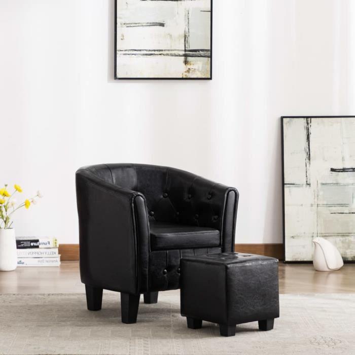 ��8482Magnifique-Fauteuil Relax salon Fauteuil TV confortable - Fauteuil de Relaxation avec repose-pied Fauteuil télévision Style S