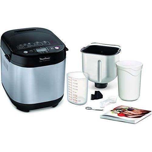 Moulinex Pain et Delices Machine à pain 1Kg 720W 20 programmes automatiques Programme sans gluten Programme yaourt Pain maison Pizz
