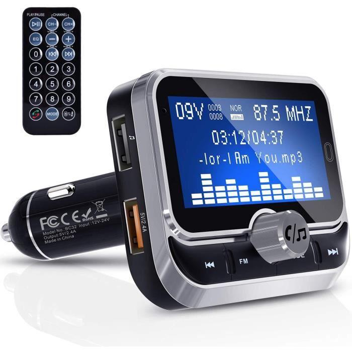 TRANSMETTEUR FM DE VOITURE Transmetteur FM Bluetooth, Clydek FM Transmetteur Universel Adaptateur Radio Kit de Voiture pour R&ea20