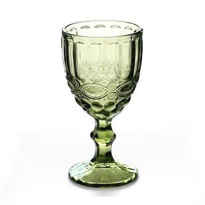 Verres à vin,Verre à vin rouge Vintage coloré 240ML 300ML,tasse à boisson épaisse pour jus de vin,tasse créative - Type 7-240ml