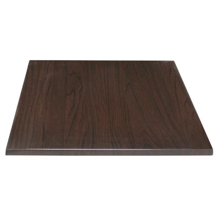 Bolero Table carrée Top brun foncé 600mm