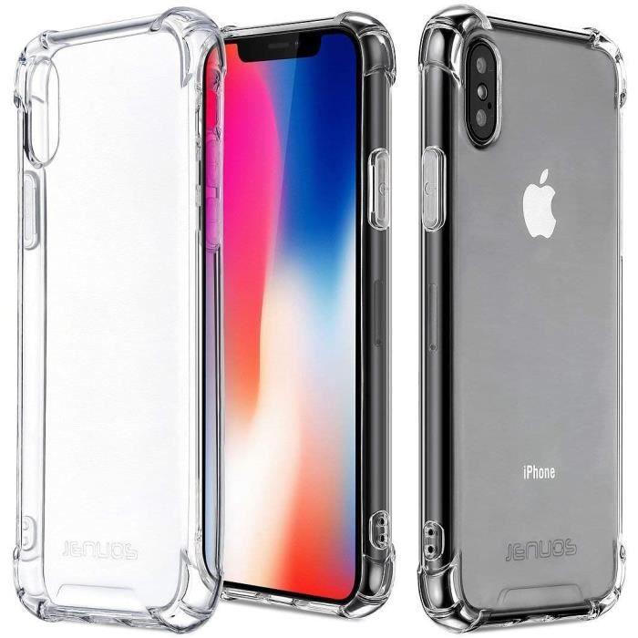 Coque Plus Verre Trempé Pour iPhone X & XS Protection vitre Premium