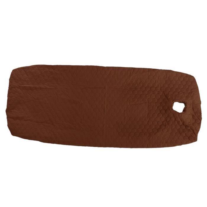 Drap-Housse de Massage Éponge Doux avec Trou pour Table de Massage / Marron 80x190cm
