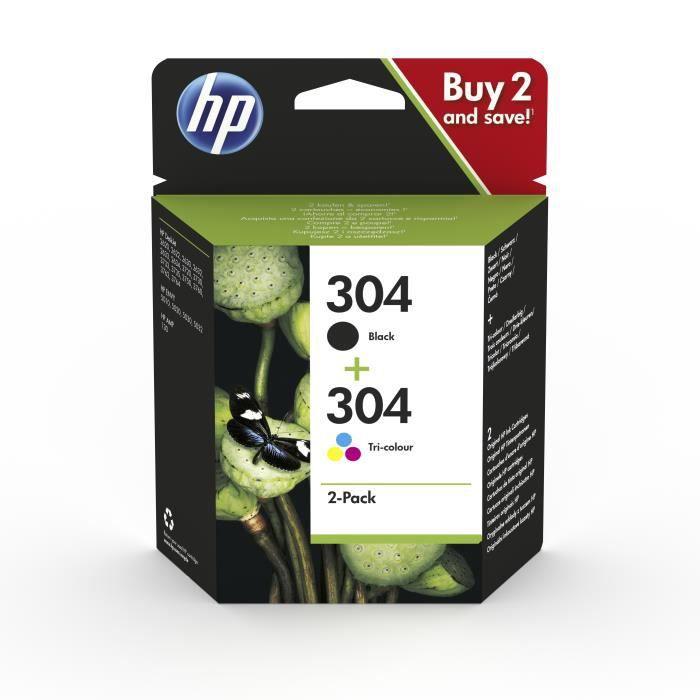 HP 304, HP, HP ENVY 5010, HP ENVY 5020, HP ENVY 5030, HP ENVY 5032, HP Deskjet 2620, HP Deskjet 2622, HP...