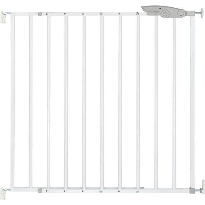 ib style® TIMY Barrière de sécurité -barrière d'escaliers et de portes - pas de risque de trébuchement - réglable - 73-107 cm