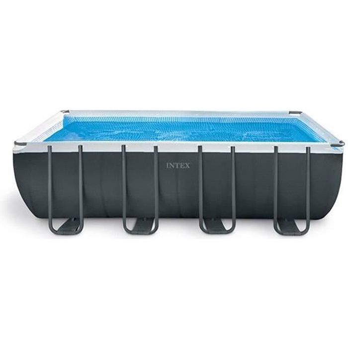 INTEX Kit Piscine rectangulaire tubulaire - L 5,49 x l 2,74 x H 1,32 m