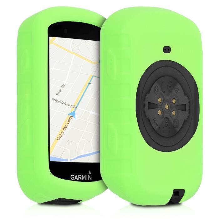 kwmobile Housse GPS vélo - Accessoire pour Garmin Edge 530 - Protection boitier navigateur - Étui en silicone vert