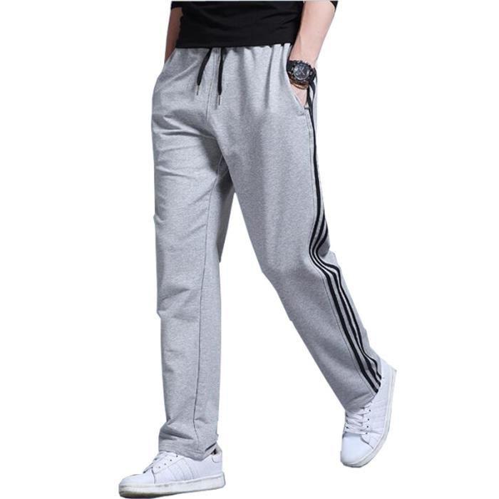 Pantalon de jogging Homme grande taille Droit Pantalon Homme sport Mode Casual - Noir