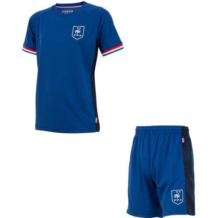Ensemble Maillot + short FFF - Collection officielle Equipe de France de Football
