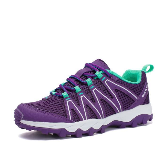 Chaussures de Randonnée Femme Alpinisme Marche Violet