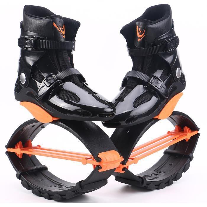 Chaussures Jump Chaussures Rebound Recommandé Poids 55-100kg (121lb-220lb) Chaussures Bounce L / XL / XXL pour Adulte-Orange/Noir