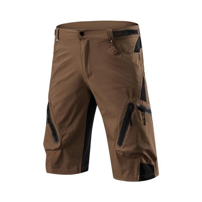 Hommes Cyclisme En Plein Air Vtt Shorts Pantalons D'Été Quick Séchage Breatha Pantalon marron