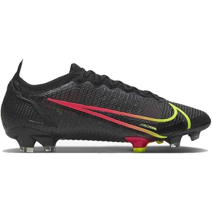 Nike Vapor 14 Elite Fg, Chaussures de Football Unisexe-Adulte, Noir/Cyber-Off Noir-Rage Green-Siren Red, 43 Eu