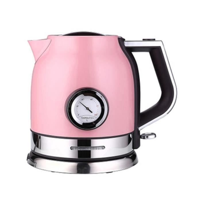 Bouilloire cafetière tenir chaud anti-brûlure Affichage de la température 1,8L ROSE