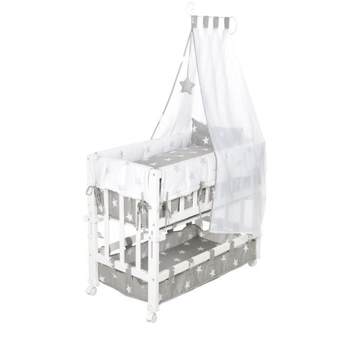 ROBA Berceau cododo -Little Stars- 3 en 1, lit cododo et de bébé, berceau et banc, incl. équipement
