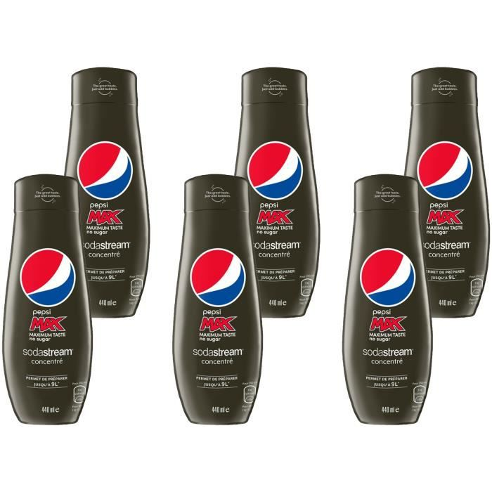 SODASTREAM Concentré PEPSI MAX 440ml Lot de 6