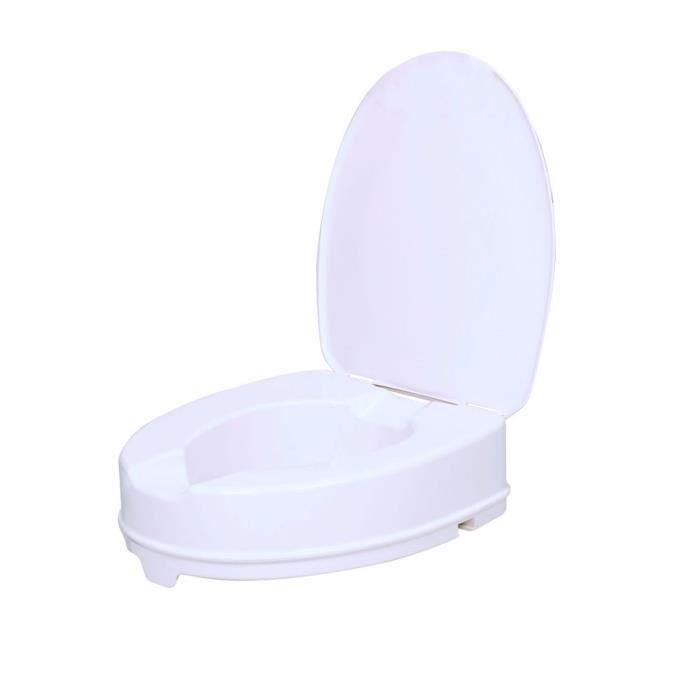 VITILITY - Rehausseur de WC ( 10 cm ) avec couvercle