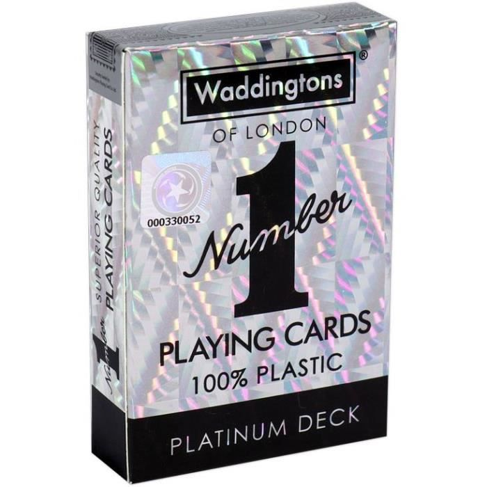 WINNING MOVES Jeu de 54 cartes Argent