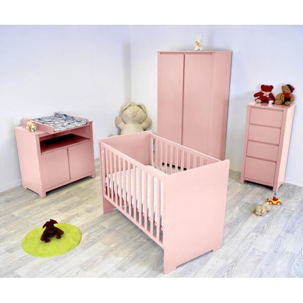 chambre b b floride compl te rose pastel achat vente. Black Bedroom Furniture Sets. Home Design Ideas