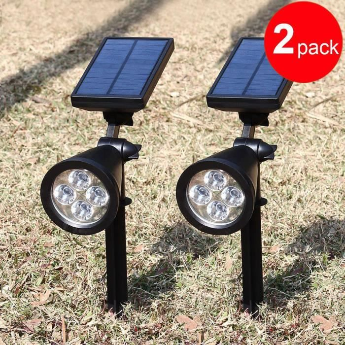 led solaire lumi re led solaire jardin ext rieur rechargeable tanche avec 180 angle r glable. Black Bedroom Furniture Sets. Home Design Ideas