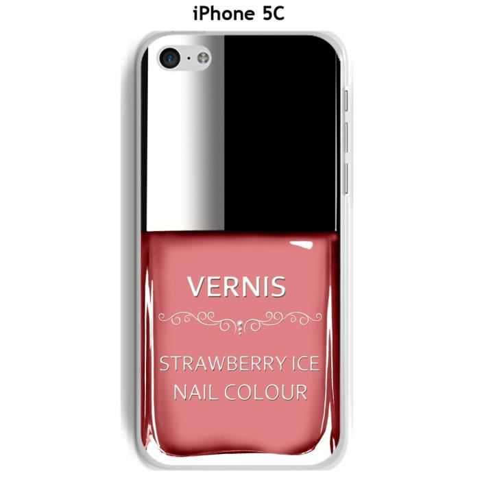 coque apple iphone 5c vernis strawberry ice achat coque. Black Bedroom Furniture Sets. Home Design Ideas