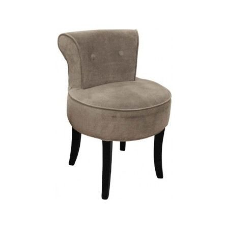 Fauteuil mini crapaud velours taupe achat vente fauteuil mati re de la st - Fauteuil crapaud velours ...