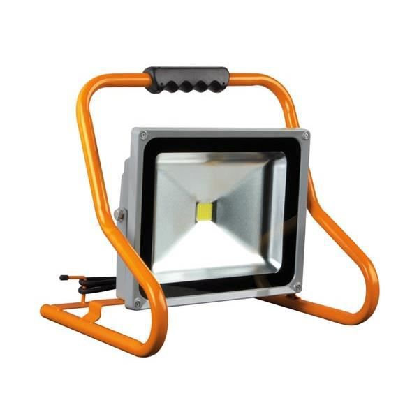 projecteur de chantier portable led 50w epistar achat vente lampe de chantier soldes d. Black Bedroom Furniture Sets. Home Design Ideas
