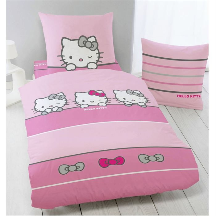 parure couette hello kitty. Black Bedroom Furniture Sets. Home Design Ideas