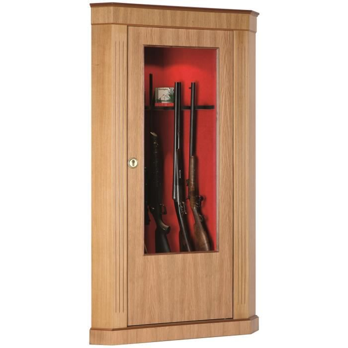 armoire forte vitrine d 39 angle ch ne 8 armes achat. Black Bedroom Furniture Sets. Home Design Ideas