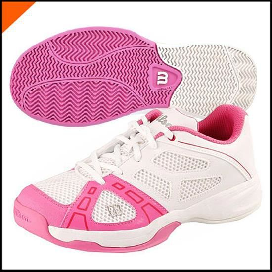 Basket RUSH PRO JR 2 Blanc-Rose WRS319340