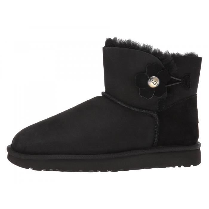 ugg mini bailey button noir